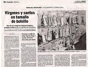 VIRGENES Y SANTOS EN TAMAÑO DE BOLSILLO
