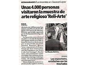 UNAS 4.000 PERSONAS VISITARON LA MUESTRA DE ARTE RELIGIOSO RELI-ARTE