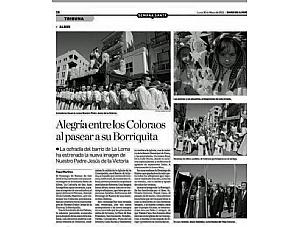 ALBOX- ALEGRIA ENTRE LOS COLORAOS AL PASEAR SU BORRIQUITA
