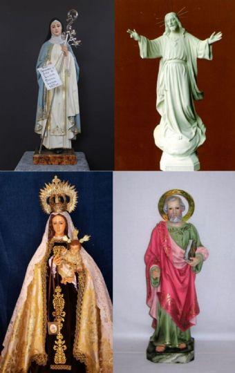 VIRGENES CRISTOS SANTOS Y SANTAS