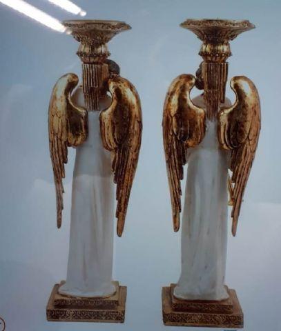 ANGELES MUSICOS PORTACANDELABROS  (PAREJA) 44CM MOD.JAV